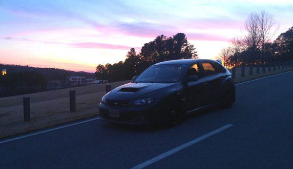 Ariella STi at Barber Motorsports Park at dusk