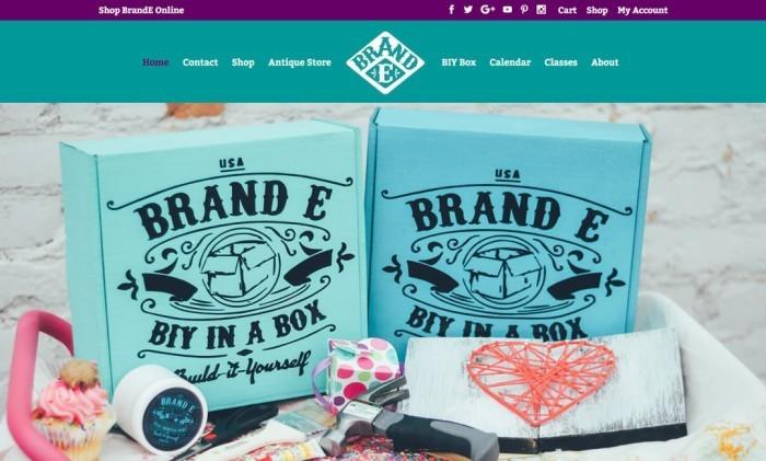 Brande Online website by Spencer Taylor