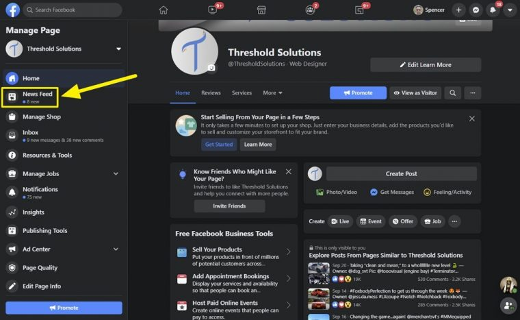 Facebook Pages News Feed working 2021