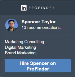 Hire Spencer Taylor through LinkedIn for consulting projects