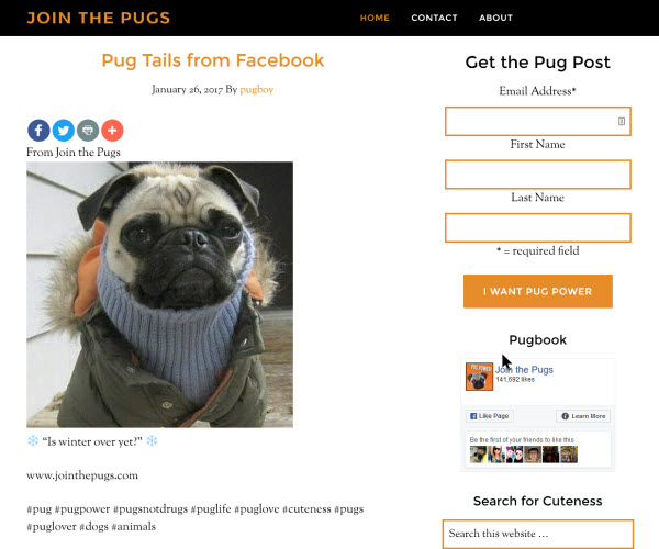 Join the Pugs desktop version