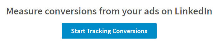 LinkedIn Conversion tracking set up step 1