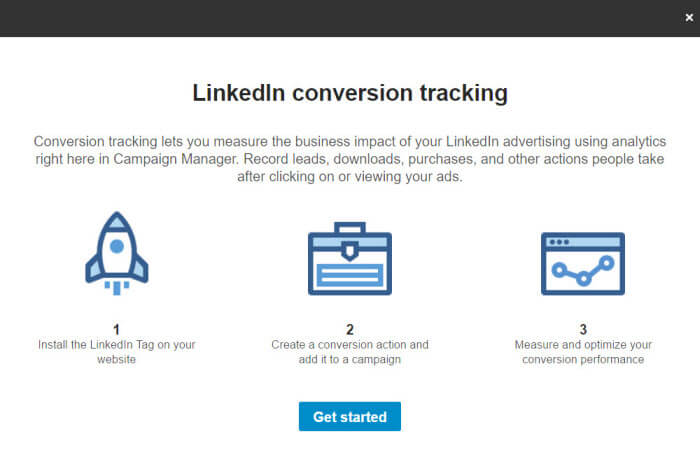 LinkedIn Conversion tracking setup