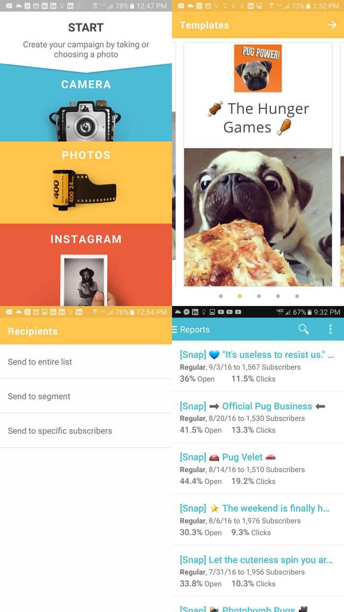 MailChimp Snap layout