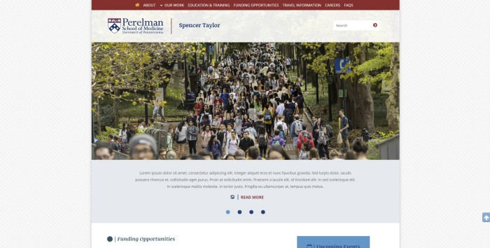 A Divi project I completed for Penn School of Medicine.