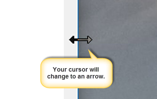 Testing for mobile friendly sites cursor becomes arrow