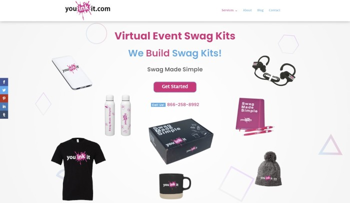 The popular Swag Management platform Youinkit also features a Divi Theme design by me.