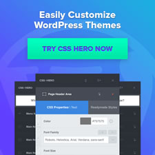 WordPress Theme Editor CSS Hero