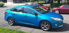 My former Ford Focus Smurfette