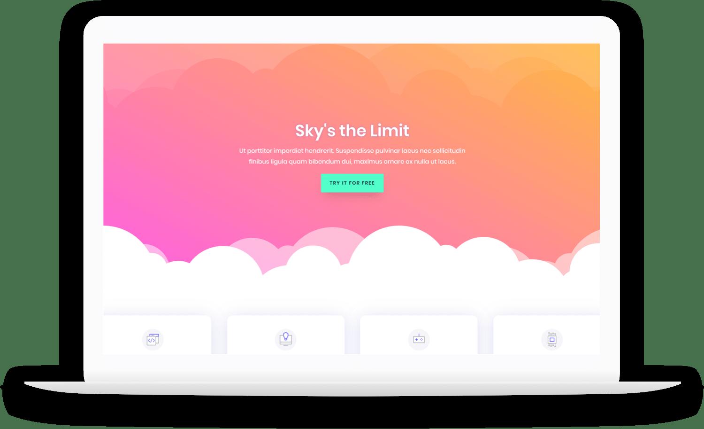 laptop clouds