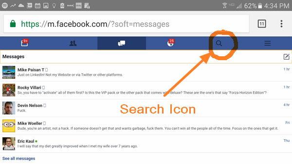 search messenger mobile